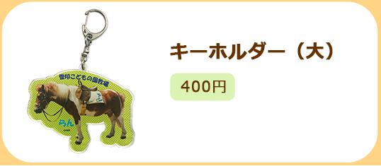 キーホルダー(大)400円